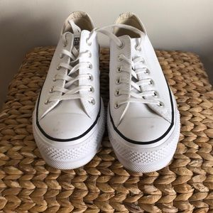 Converse platforms leather chuck taylor's